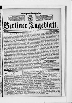 Berliner Tageblatt und Handels-Zeitung vom 04.06.1884