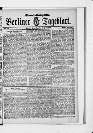 Berliner Tageblatt und Handels-Zeitung vom 05.06.1884