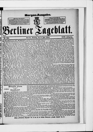 Berliner Tageblatt und Handels-Zeitung vom 08.06.1884