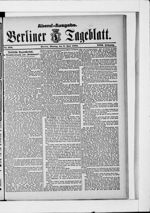 Berliner Tageblatt und Handels-Zeitung vom 09.06.1884