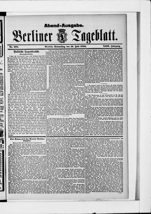 Berliner Tageblatt und Handels-Zeitung vom 12.06.1884