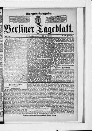 Berliner Tageblatt und Handels-Zeitung vom 14.06.1884