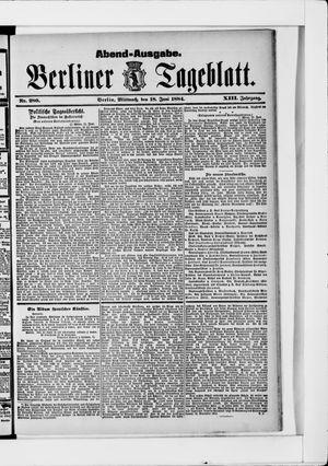 Berliner Tageblatt und Handels-Zeitung vom 18.06.1884