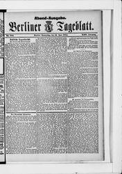 Berliner Tageblatt und Handels-Zeitung (19.06.1884)