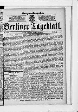 Berliner Tageblatt und Handels-Zeitung vom 21.06.1884