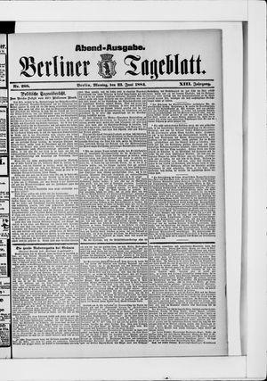 Berliner Tageblatt und Handels-Zeitung vom 23.06.1884