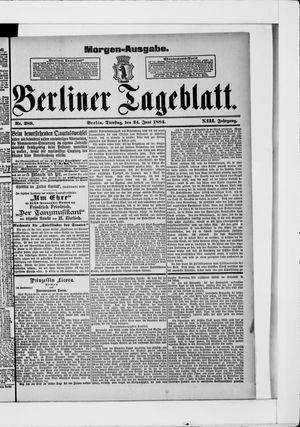 Berliner Tageblatt und Handels-Zeitung vom 24.06.1884