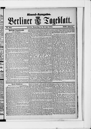 Berliner Tageblatt und Handels-Zeitung vom 26.06.1884