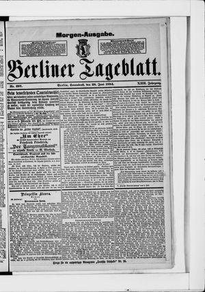 Berliner Tageblatt und Handels-Zeitung vom 28.06.1884