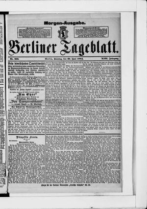 Berliner Tageblatt und Handels-Zeitung vom 29.06.1884