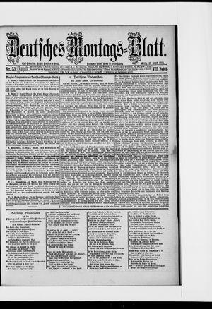 Berliner Tageblatt und Handels-Zeitung vom 18.08.1884