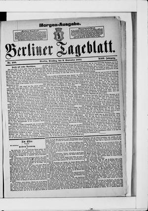 Berliner Tageblatt und Handels-Zeitung vom 02.09.1884