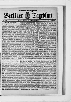 Berliner Tageblatt und Handels-Zeitung vom 03.09.1884