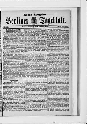 Berliner Tageblatt und Handels-Zeitung vom 04.09.1884