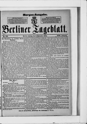 Berliner Tageblatt und Handels-Zeitung vom 05.09.1884