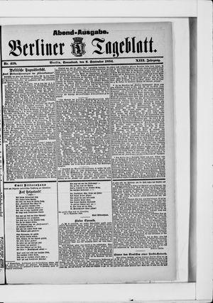 Berliner Tageblatt und Handels-Zeitung vom 06.09.1884