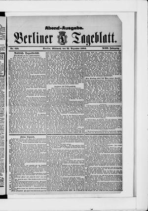 Berliner Tageblatt und Handels-Zeitung vom 31.12.1884