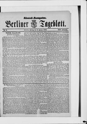 Berliner Tageblatt und Handels-Zeitung vom 02.01.1885
