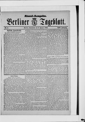 Berliner Tageblatt und Handels-Zeitung vom 03.01.1885