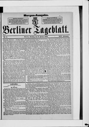 Berliner Tageblatt und Handels-Zeitung vom 06.01.1885