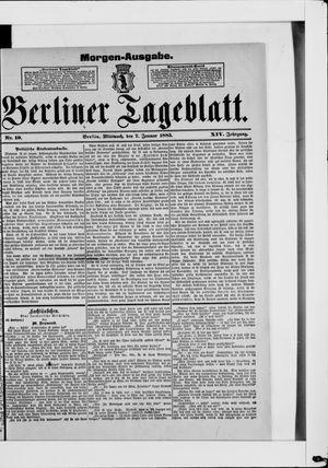 Berliner Tageblatt und Handels-Zeitung vom 07.01.1885