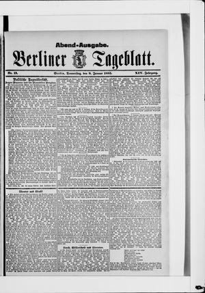 Berliner Tageblatt und Handels-Zeitung vom 08.01.1885