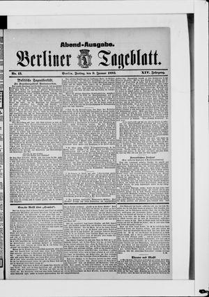 Berliner Tageblatt und Handels-Zeitung vom 09.01.1885
