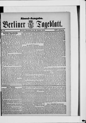 Berliner Tageblatt und Handels-Zeitung on Jan 10, 1885