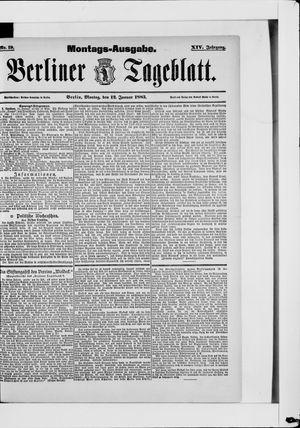 Berliner Tageblatt und Handels-Zeitung vom 12.01.1885