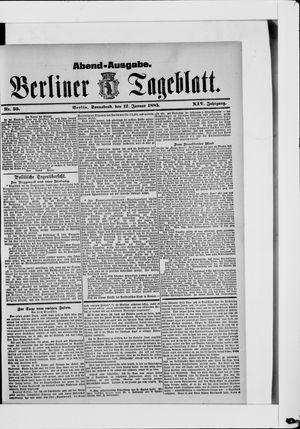Berliner Tageblatt und Handels-Zeitung vom 17.01.1885