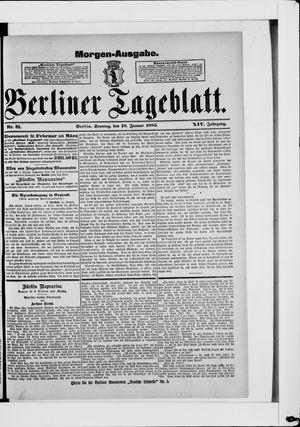 Berliner Tageblatt und Handels-Zeitung vom 18.01.1885