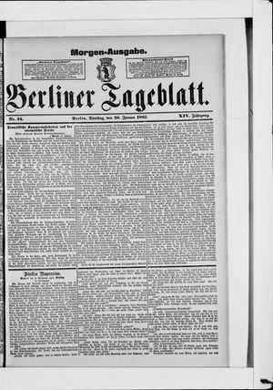Berliner Tageblatt und Handels-Zeitung vom 20.01.1885