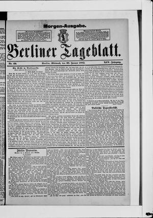 Berliner Tageblatt und Handels-Zeitung vom 28.01.1885
