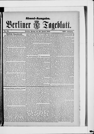 Berliner Tageblatt und Handels-Zeitung vom 30.01.1885
