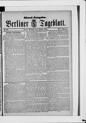 Berliner Tageblatt und Handels-Zeitung vom 04.02.1885