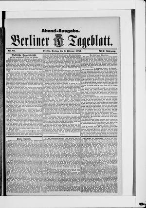 Berliner Tageblatt und Handels-Zeitung vom 06.02.1885