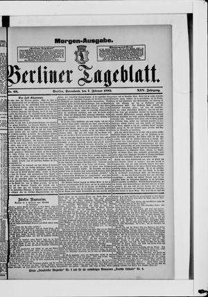 Berliner Tageblatt und Handels-Zeitung vom 07.02.1885