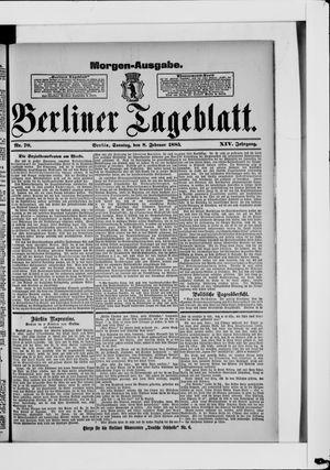 Berliner Tageblatt und Handels-Zeitung vom 08.02.1885