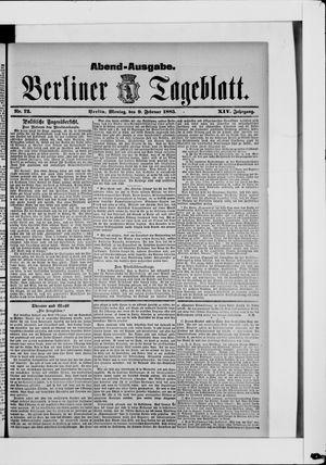 Berliner Tageblatt und Handels-Zeitung vom 09.02.1885
