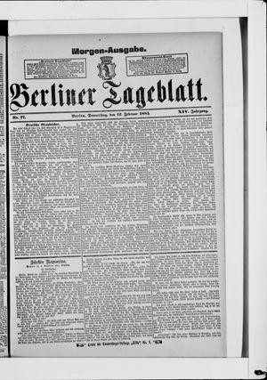 Berliner Tageblatt und Handels-Zeitung vom 12.02.1885