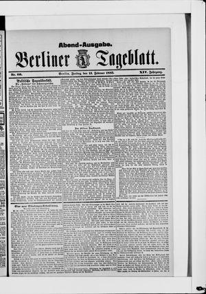 Berliner Tageblatt und Handels-Zeitung vom 13.02.1885
