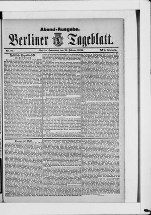 Berliner Tageblatt und Handels-Zeitung vom 21.02.1885