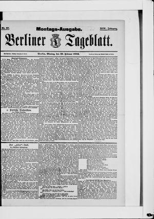 Berliner Tageblatt und Handels-Zeitung vom 23.02.1885