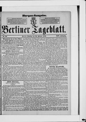 Berliner Tageblatt und Handels-Zeitung vom 24.02.1885