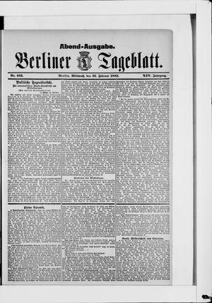 Berliner Tageblatt und Handels-Zeitung vom 25.02.1885