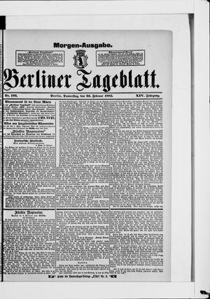 Berliner Tageblatt und Handels-Zeitung vom 26.02.1885