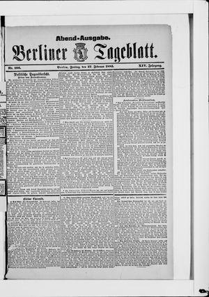 Berliner Tageblatt und Handels-Zeitung vom 27.02.1885