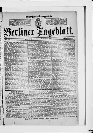Berliner Tageblatt und Handels-Zeitung vom 28.02.1885
