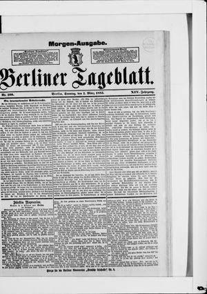 Berliner Tageblatt und Handels-Zeitung vom 01.03.1885