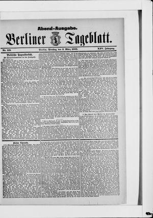 Berliner Tageblatt und Handels-Zeitung vom 03.03.1885